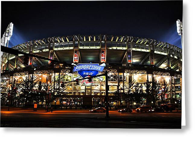 Allstar Greeting Cards - Jacobs Field Greeting Card by Frozen in Time Fine Art Photography