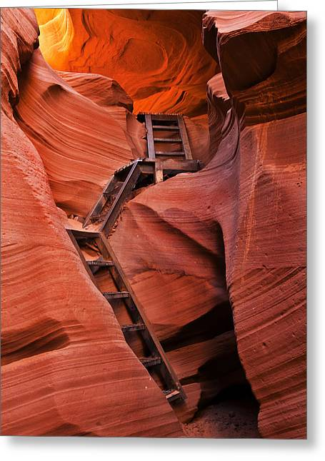 Ladder Greeting Cards - Jacobs Ladder Greeting Card by Mike  Dawson