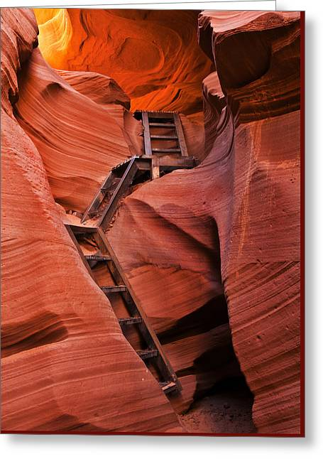Slot Greeting Cards - Jacobs Ladder Greeting Card by Mike  Dawson