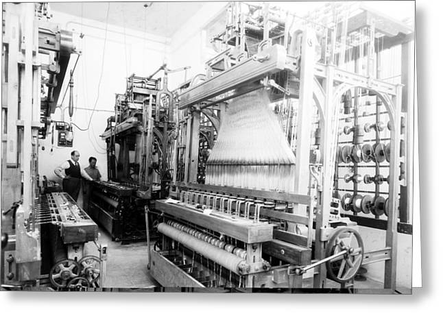 White Cloth Greeting Cards - Jacquard loom in Palestine, 1939 Greeting Card by Science Photo Library