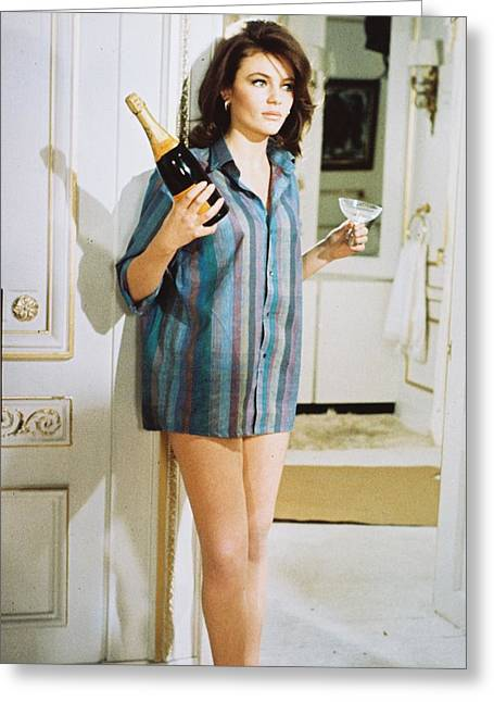 Jacqueline Greeting Cards - Jacqueline Bisset in Bullitt  Greeting Card by Silver Screen