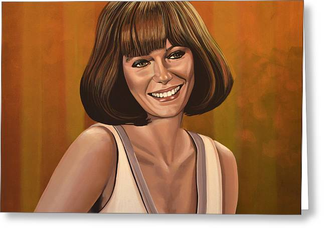 Sac Greeting Cards - Jacqueline Bisset Greeting Card by Paul  Meijering
