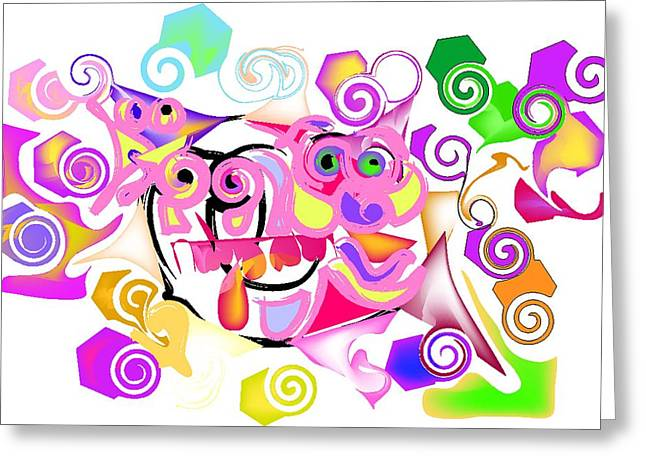 Ballet Of Colors Greeting Cards - Jacques Cousteaus brain Greeting Card by Andy Cordan