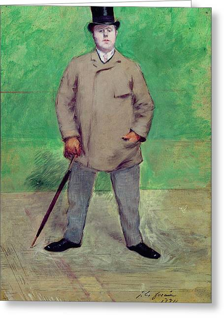 Full-length Portrait Greeting Cards - Jacques-emile Blanche 1861-1942 1884 Oil On Card Greeting Card by Jean Louis Forain