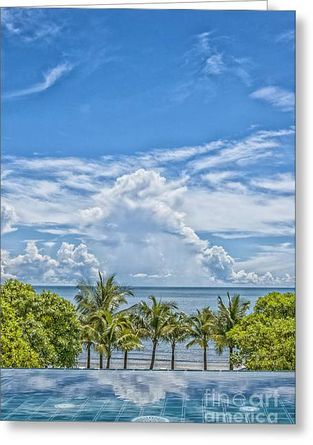 Wellbeing Greeting Cards - Jacuzzi in Paradise Greeting Card by Antony McAulay