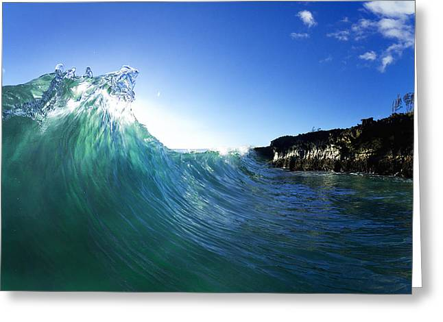 Clean Water Photographs Greeting Cards - Jade Crystal Greeting Card by Sean Davey