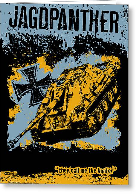 Tank Battalions Greeting Cards - Jagdpanther late production Greeting Card by Philip Arena