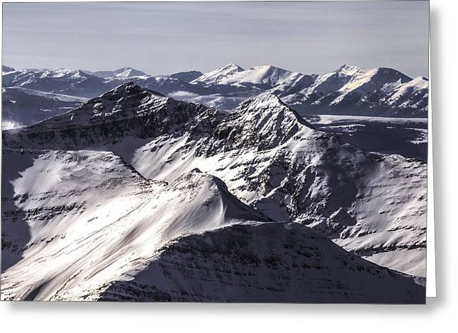 Fine Art Skiing Prints Greeting Cards - Jagged Mountain Home Greeting Card by Russell Nordstrand