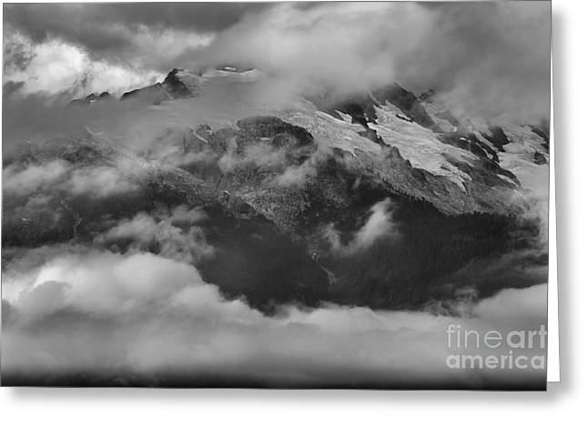 Rugged Mountains Greeting Cards - Jagged Peaks Among The Clouds Greeting Card by Adam Jewell