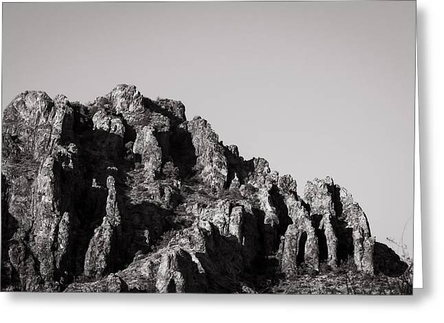 Wray Greeting Cards - Jagged Top Greeting Card by Sean Wray
