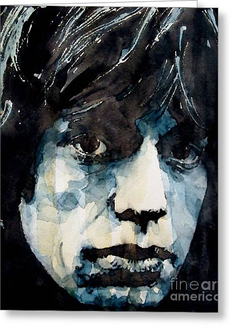 Stone Paintings Greeting Cards - Jagger no3 Greeting Card by Paul Lovering