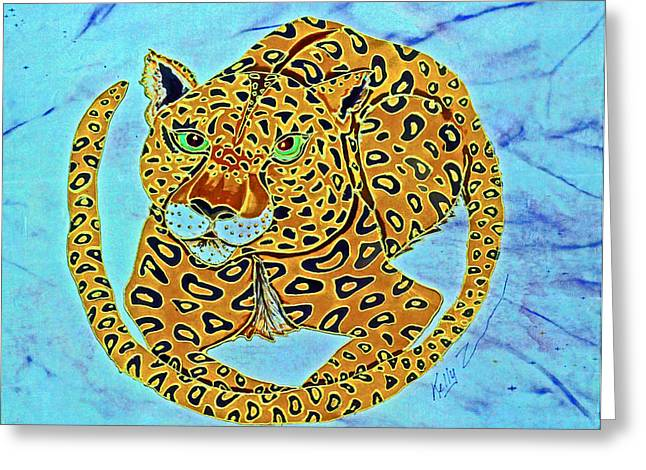 Jaguars Tapestries - Textiles Greeting Cards - Jaguar at Rest Greeting Card by Kelly     ZumBerge