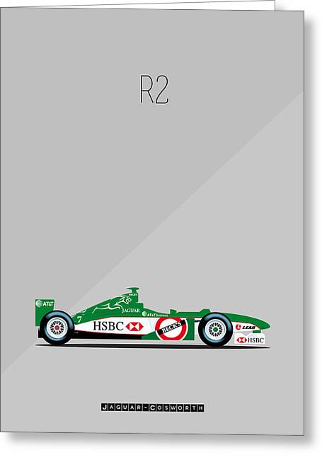 Jaguars Digital Greeting Cards - Jaguar Cosworth R2 F1 Greeting Card by Florian Rodarte