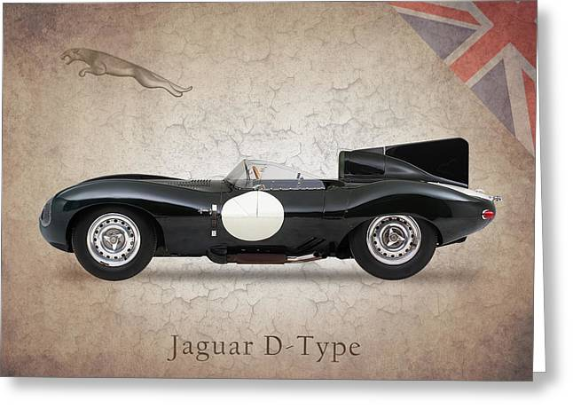 Jaguar D-Type Greeting Card by Mark Rogan