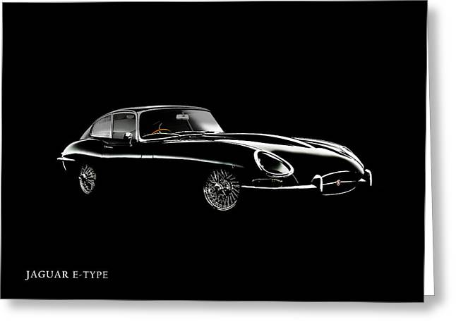 Jaguars Photographs Greeting Cards - Jaguar E Type Black Edition Greeting Card by Mark Rogan