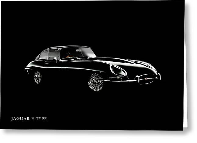 Jaguars Greeting Cards - Jaguar E Type Black Edition Greeting Card by Mark Rogan