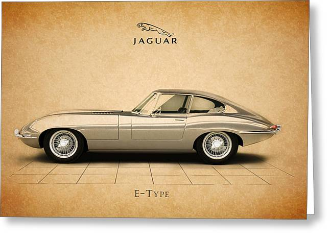 Jaguars Greeting Cards - Jaguar E Type Coupe Greeting Card by Mark Rogan