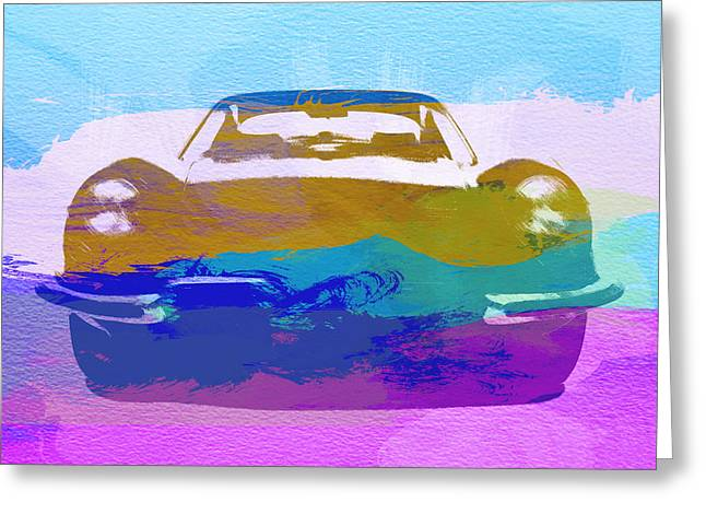 Jaguars Digital Greeting Cards - Jaguar E Type Front Greeting Card by Naxart Studio