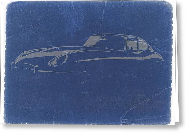 Jaguars Digital Greeting Cards - Jaguar E Type Greeting Card by Naxart Studio