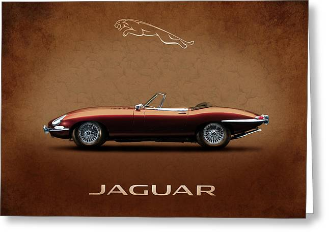 Jaguars Photographs Greeting Cards - Jaguar E-Type Series 1 Greeting Card by Mark Rogan