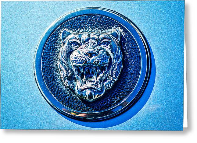 1992 Greeting Cards - Jaguar Emblem -0056c Greeting Card by Jill Reger