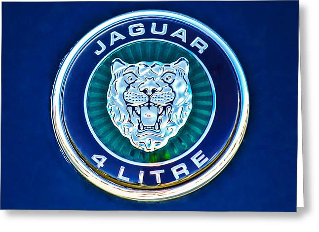 Jaguars Greeting Cards - Jaguar Emblem -0792c Greeting Card by Jill Reger