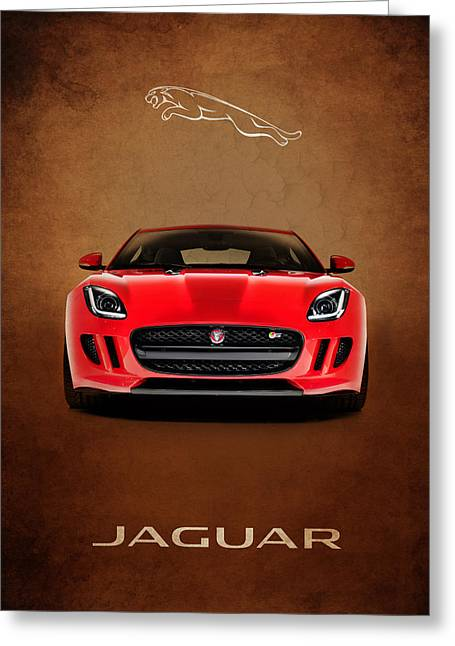 Supercar Greeting Cards - Jaguar F Type Greeting Card by Mark Rogan
