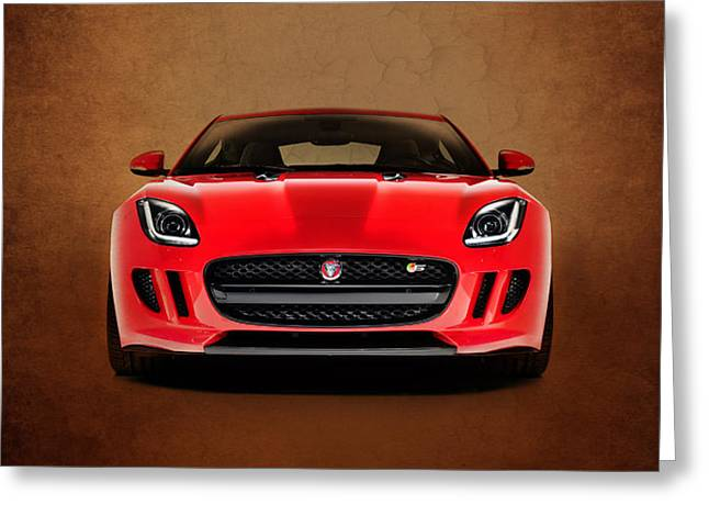 Jaguar F Type Greeting Card by Mark Rogan
