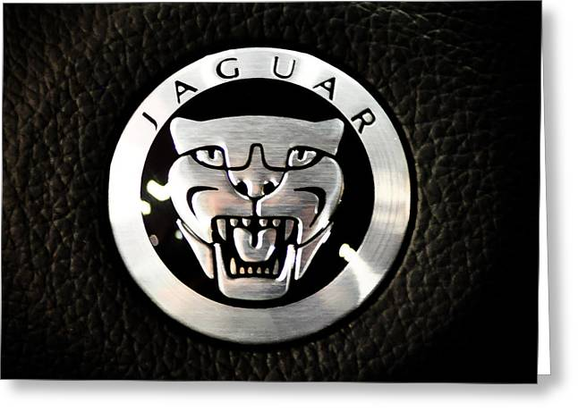Jaguar Logo Greeting Card by Ronda Broatch