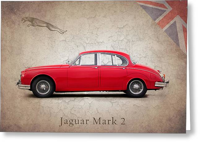 Jaguars Greeting Cards - Jaguar Mark 2 1959 Greeting Card by Mark Rogan