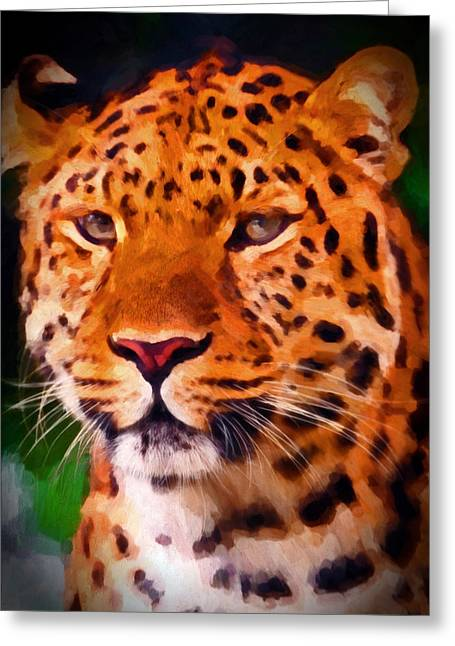 Preditor Greeting Cards - Jaguar Greeting Card by Michael Pickett