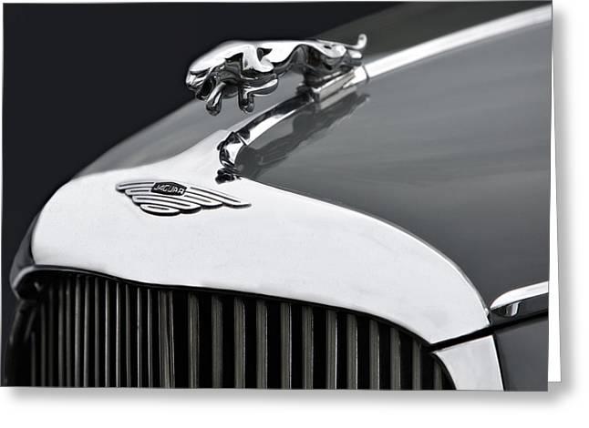 Jaguar Mk Ix Hood Greeting Card by Susan Candelario