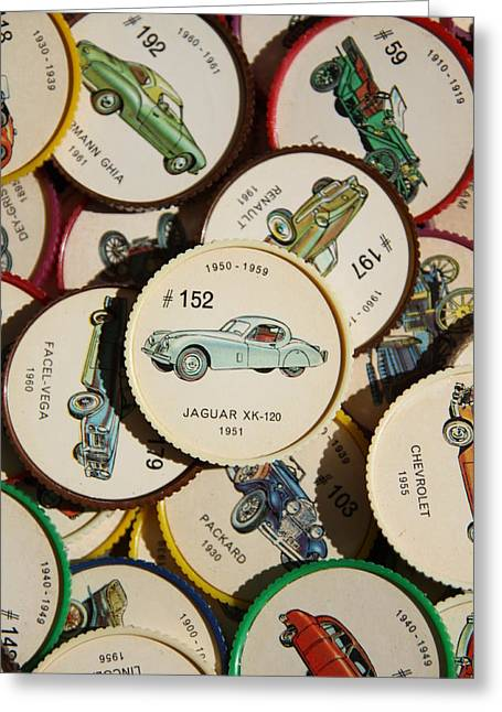 Jaguars Greeting Cards - Jaguar XK-120 1951 - A Greeting Card by Steve Tracy