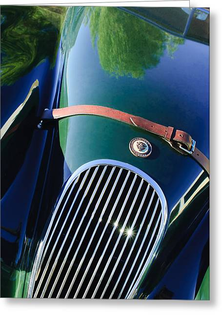 Jaguars Greeting Cards - Jaguar Xk 120 Grille Greeting Card by Jill Reger