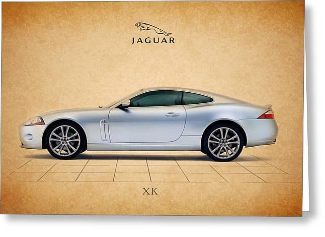 Jaguars Photographs Greeting Cards - Jaguar XK Greeting Card by Mark Rogan