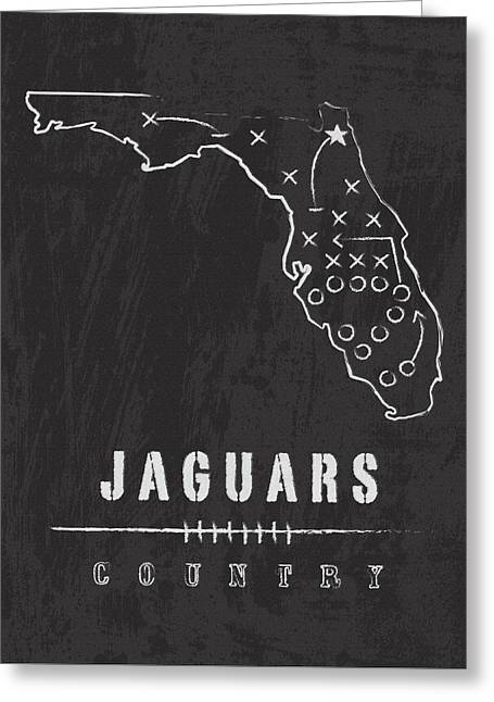 Jacksonville Digital Greeting Cards - Jaguars Country 2 Greeting Card by Damon Gray