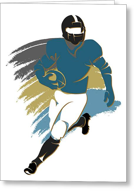 Jacksonville Greeting Cards - Jaguars Shadow Player2 Greeting Card by Joe Hamilton