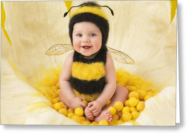 Yellows Greeting Cards - Jai Greeting Card by Anne Geddes