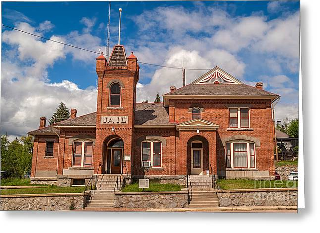 Public Jail Greeting Cards - Jail Built in 1896 Greeting Card by Sue Smith
