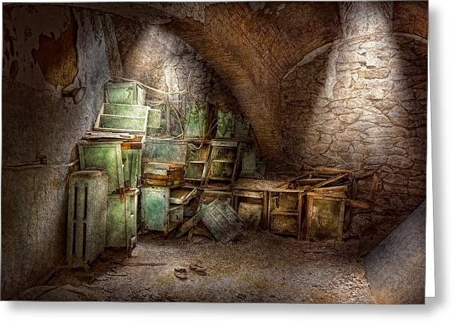 Jail - Eastern State Penitentiary - Cabinet members  Greeting Card by Mike Savad