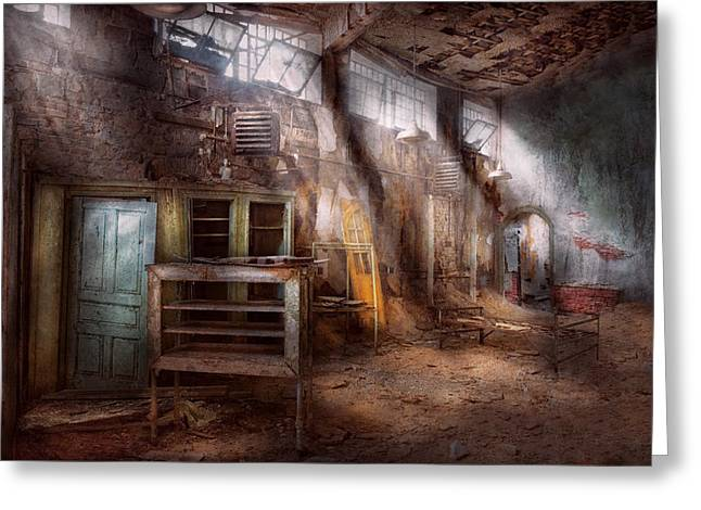 Decay Laws Greeting Cards - Jail - Eastern State Penitentiary - Sick Bay Greeting Card by Mike Savad
