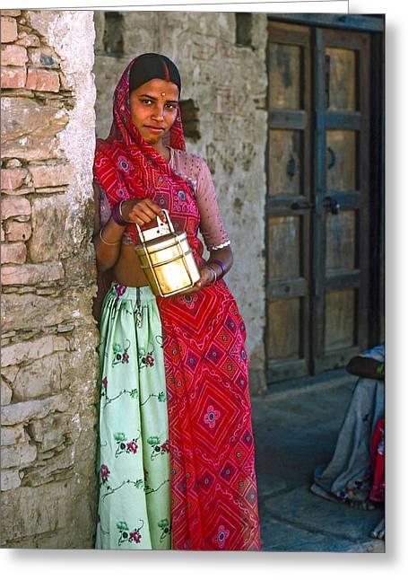 Henna Greeting Cards - Jaisalmer Beauty Greeting Card by Steve Harrington