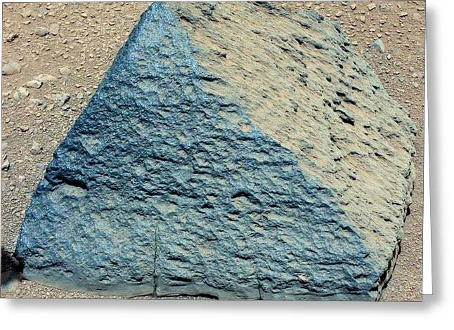 21st Greeting Cards - Jake Matijevic rock, Mars Greeting Card by Science Photo Library