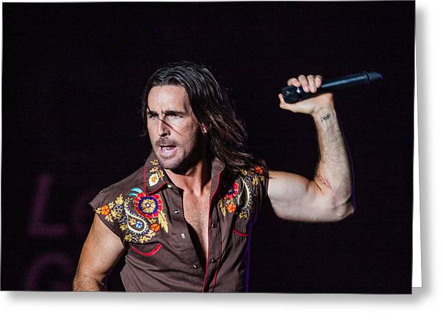 Live Performance Greeting Cards - Jake Owen  Greeting Card by Mike Burgquist