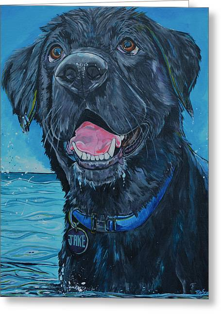 Dogs In Art Greeting Cards - Jake Greeting Card by Patti Schermerhorn