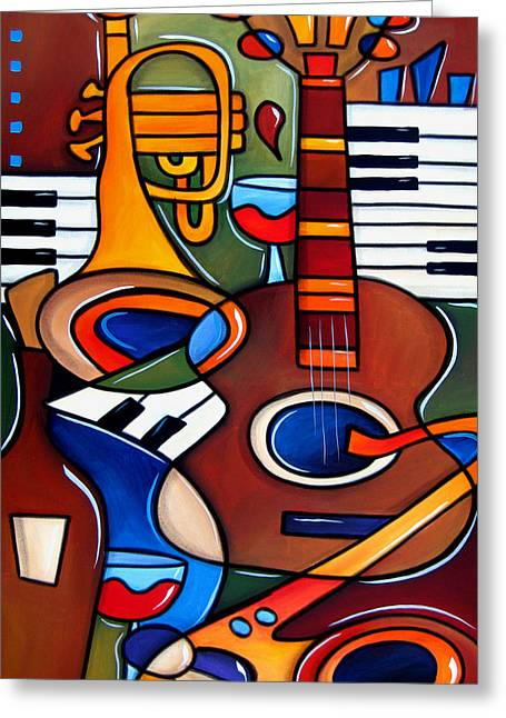 Jam Session By Fidostudio Greeting Card by Tom Fedro - Fidostudio