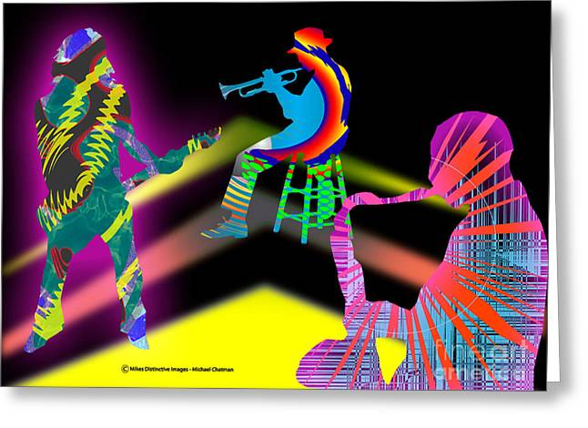 Jam Session Greeting Card by Michael Chatman