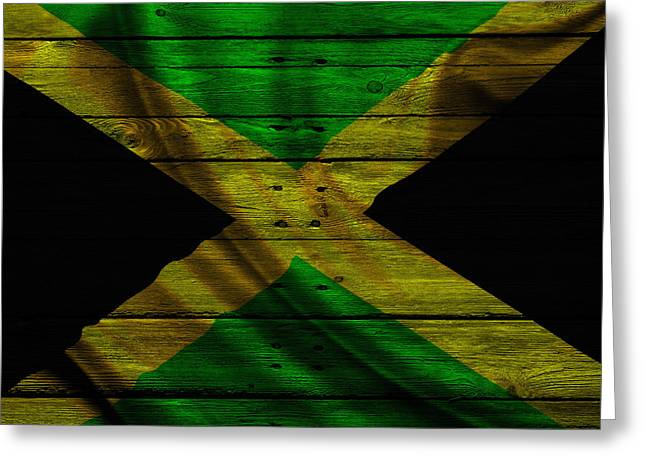 Flag Pole Greeting Cards - Jamaica Greeting Card by Joe Hamilton