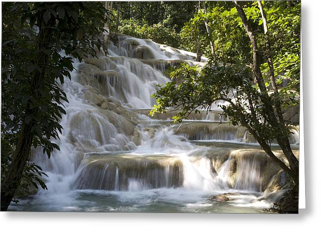 Greater Antilles Greeting Cards - Jamaica Ocho Rios - Dunns River Falls Greeting Card by Tips Images