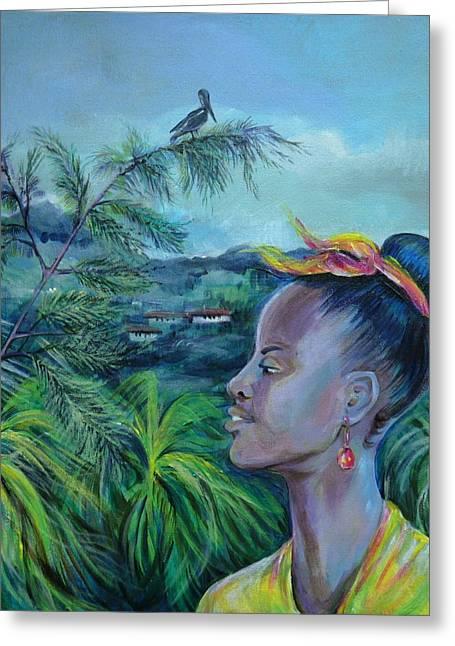 Anna Duyunova Art Greeting Cards - Jamaica. Part Two Greeting Card by Anna  Duyunova
